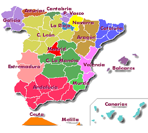 Busqueda de Corredores por comunidades autónomas